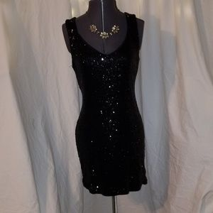 CRYSTAL DOLL sequins dress.